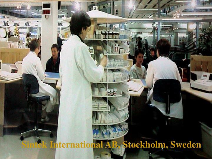 Sintek International AB, Stockholm, Sweden