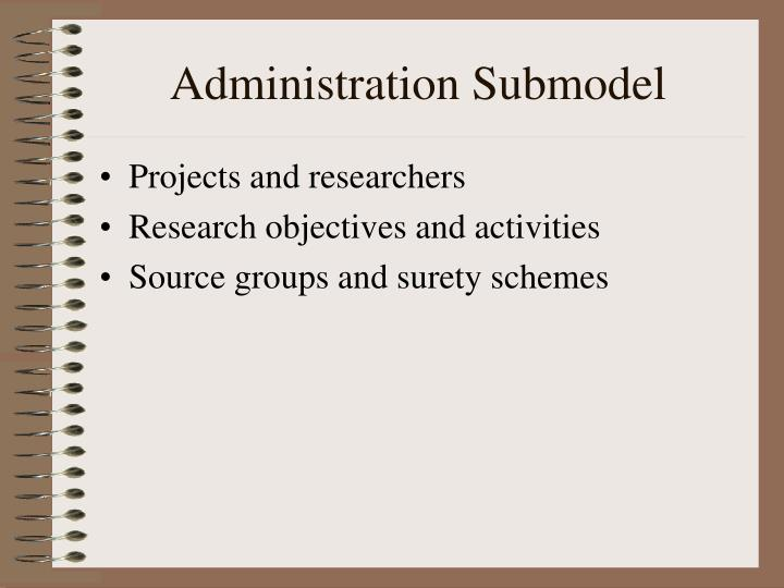 Administration Submodel