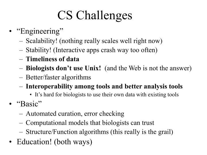 CS Challenges
