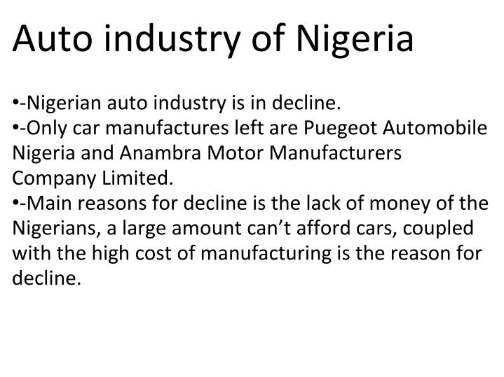 Auto industry of Nigeria