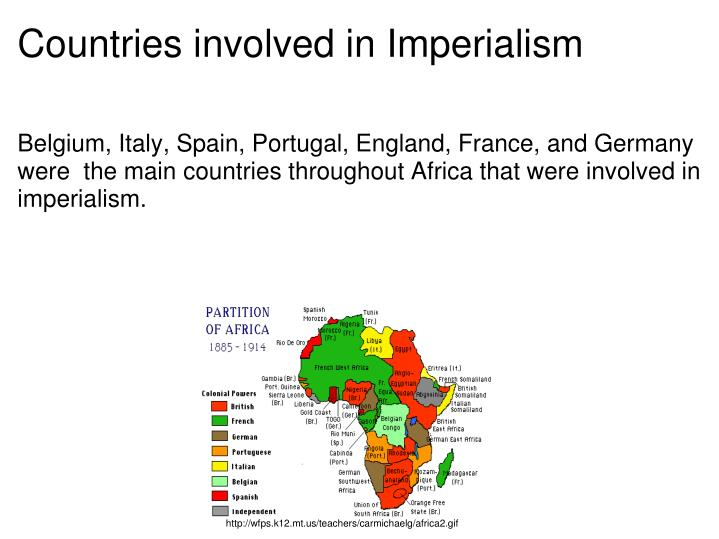 Countries involved in Imperialism