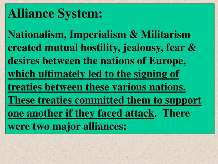 Alliance System: