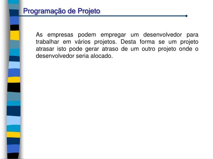 Programação de Projeto