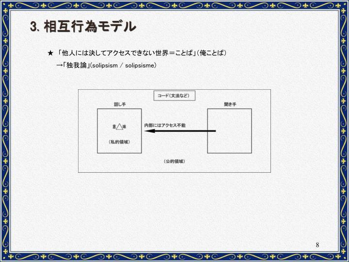 3. 相互行為モデル