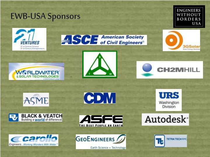 EWB-USA Sponsors