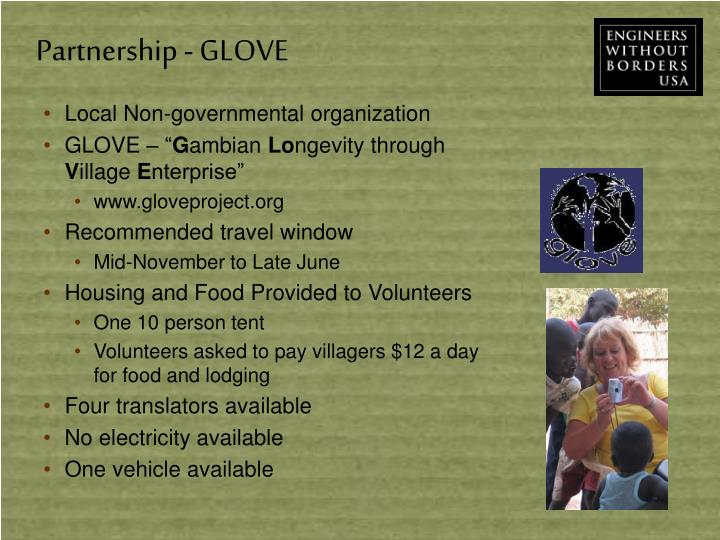 Partnership - GLOVE