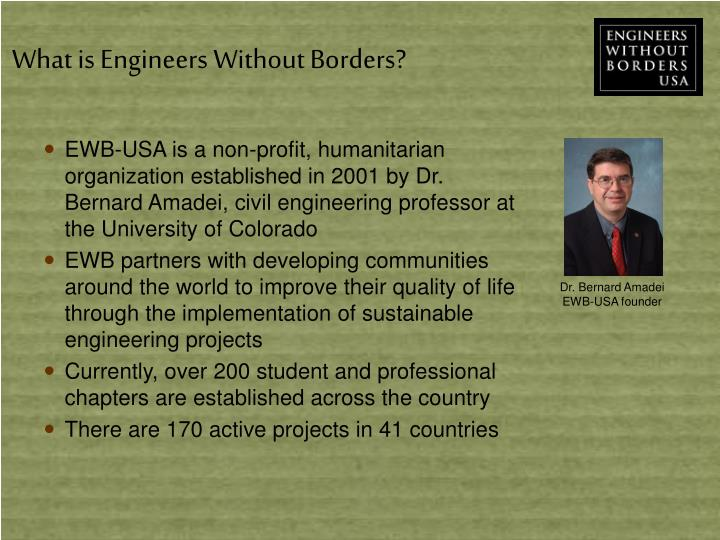 What is Engineers Without Borders?