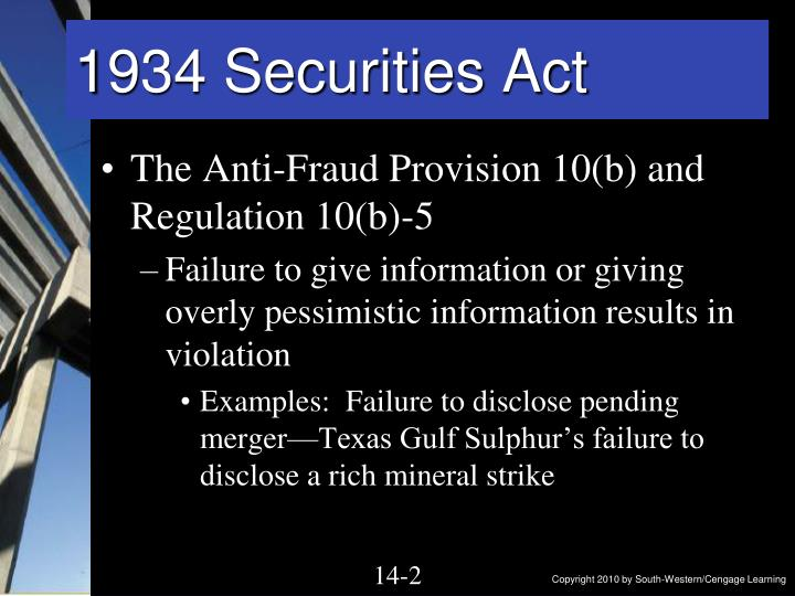 1934 securities act