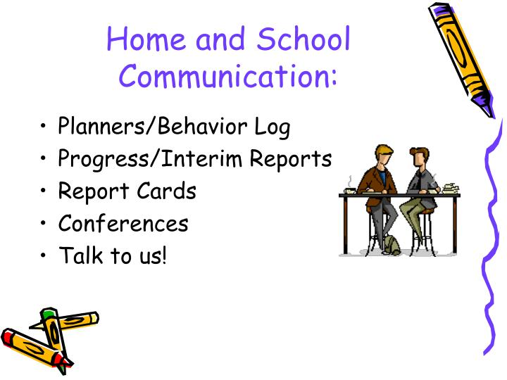 Home and School Communication: