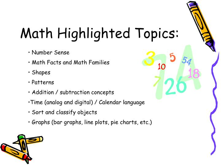 Math Highlighted Topics: