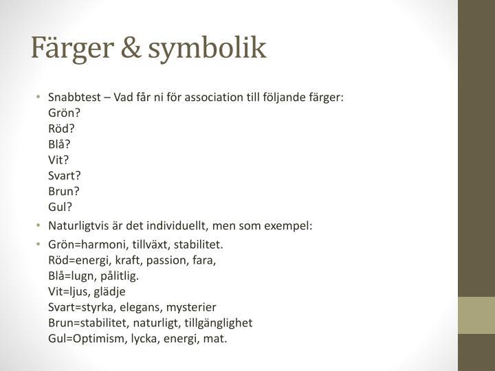 Färger & symbolik