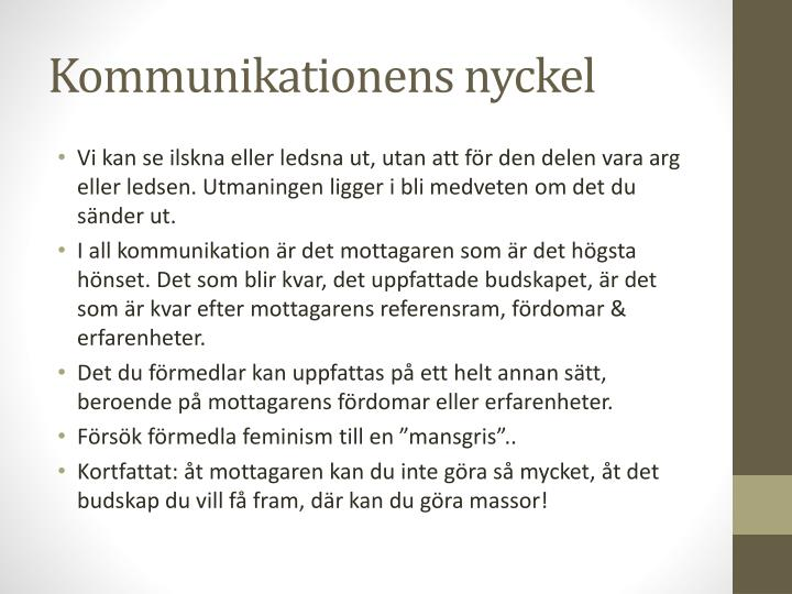 Kommunikationens nyckel