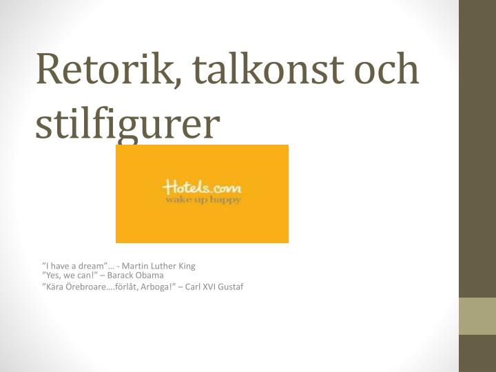 Retorik talkonst och stilfigurer