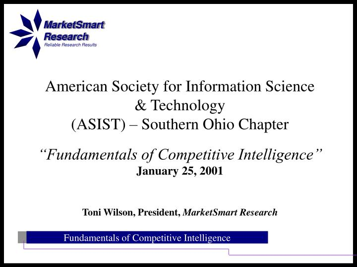 American society for information science technology asist southern ohio chapter