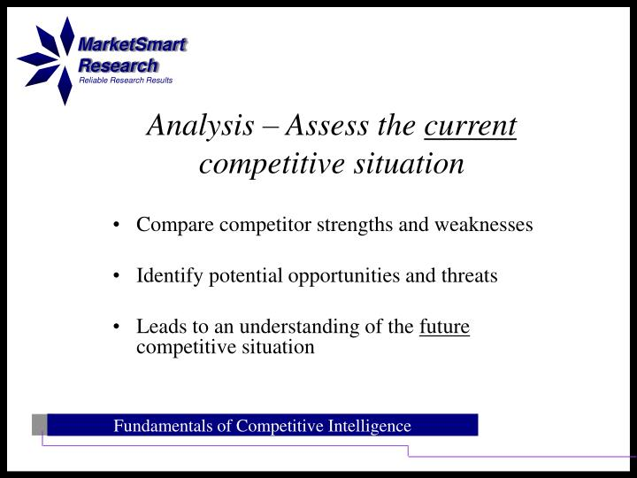 Compare competitor strengths and weaknesses