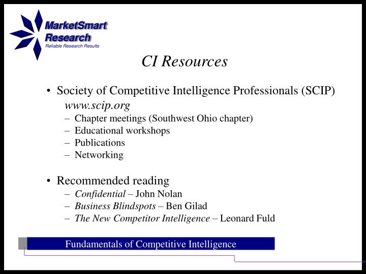 CI Resources