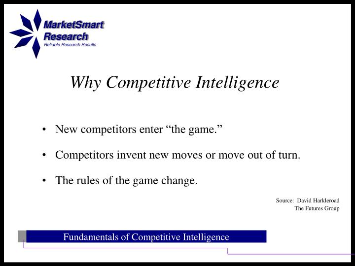 Why competitive intelligence