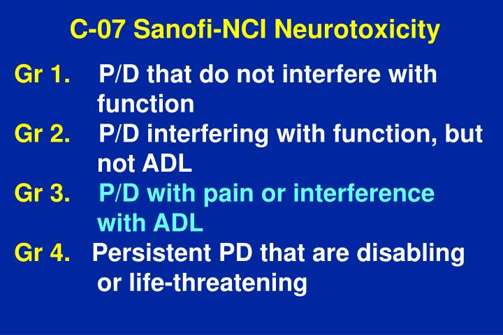 C-07 Sanofi-NCI Neurotoxicity