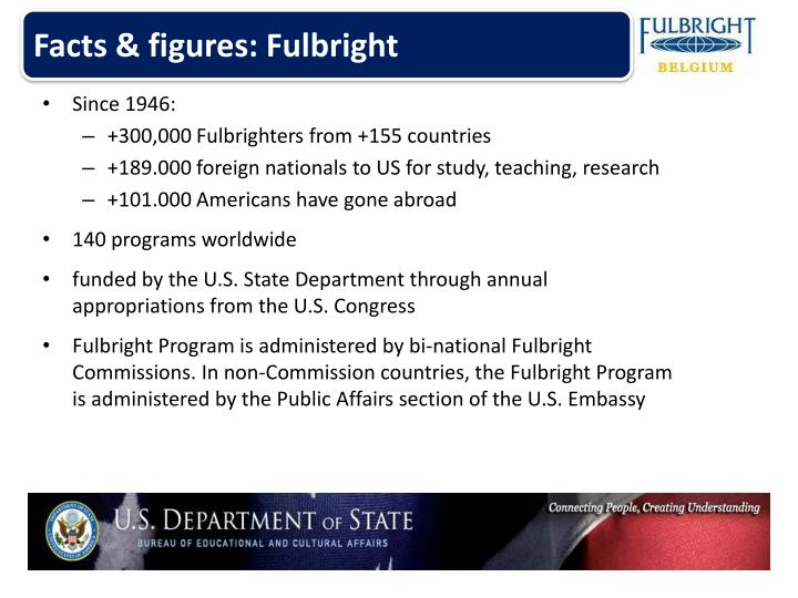Facts & figures: Fulbright