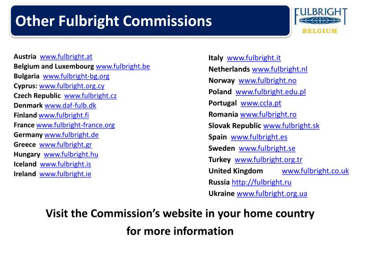 Other Fulbright Commissions