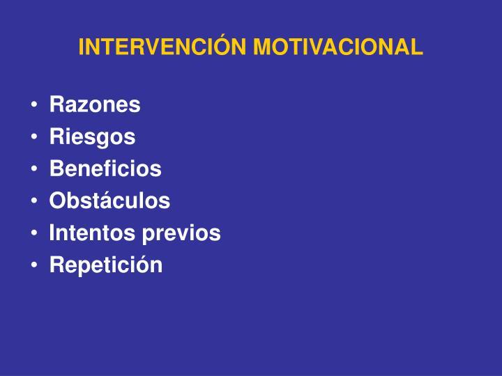 INTERVENCIÓN MOTIVACIONAL