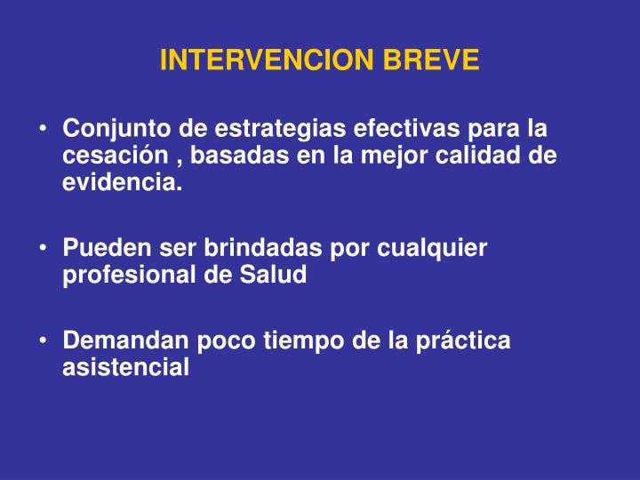 INTERVENCION BREVE