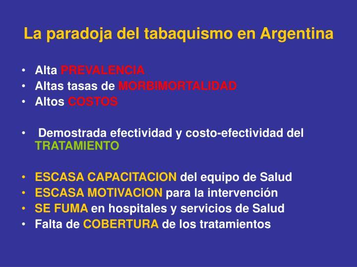 La paradoja del tabaquismo en Argentina