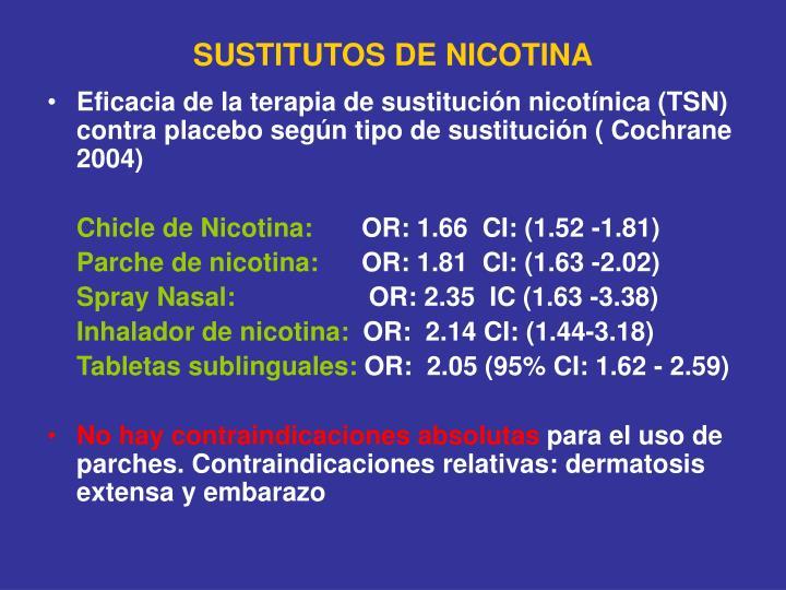 SUSTITUTOS DE NICOTINA