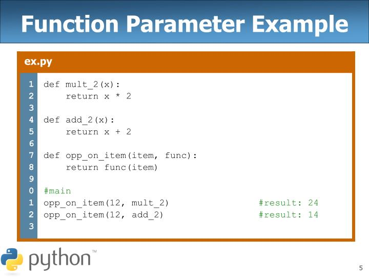Function Parameter Example