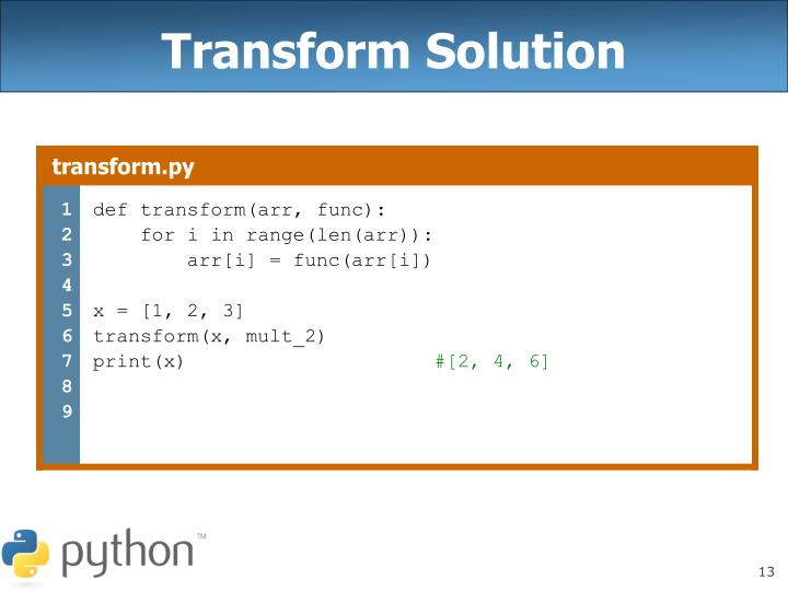 Transform Solution