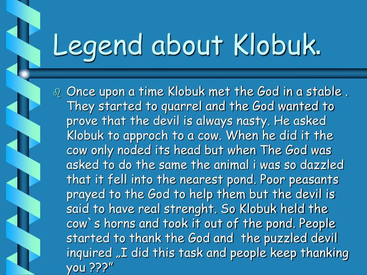Legend about klobuk