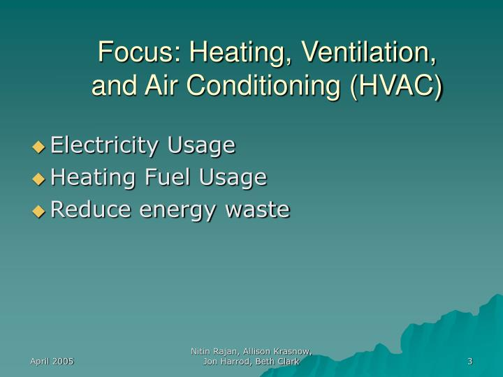 Focus: Heating, Ventilation, and Air Conditioning (HVAC)