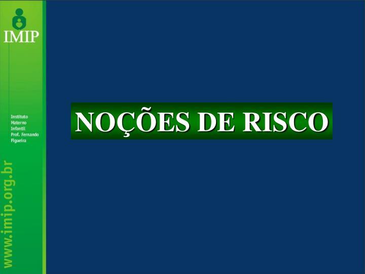NOÇÕES DE RISCO