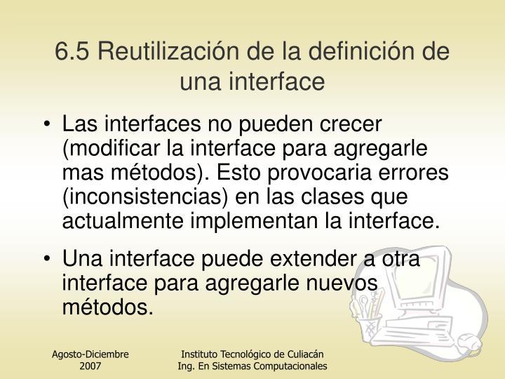 6.5 Reutilización de la definición de una
