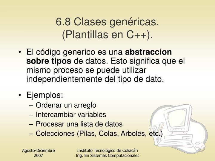 6.8 Clases genéricas