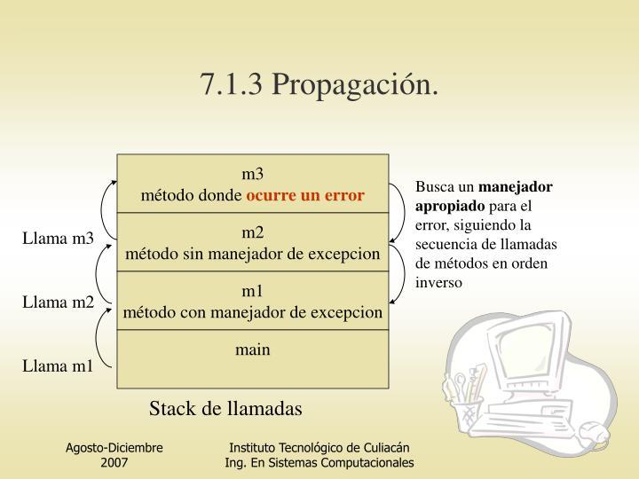7.1.3 Propagación.