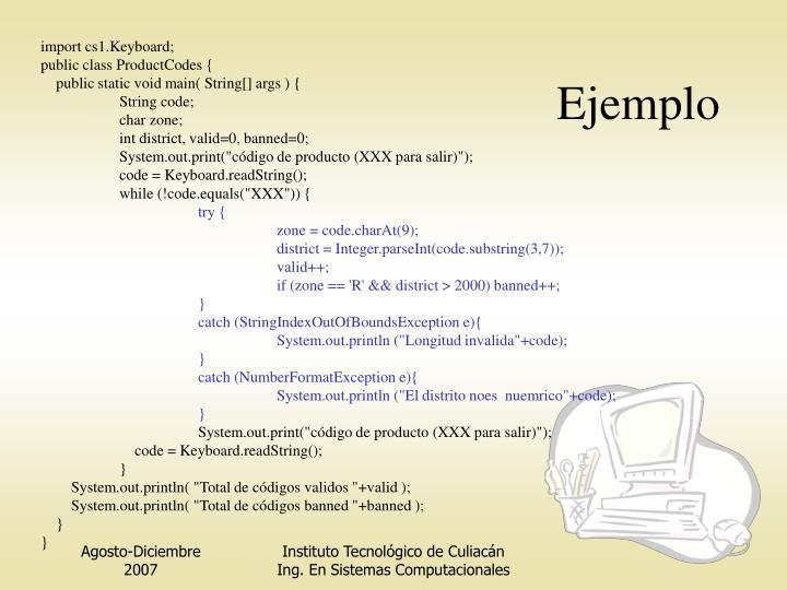 import cs1.Keyboard;