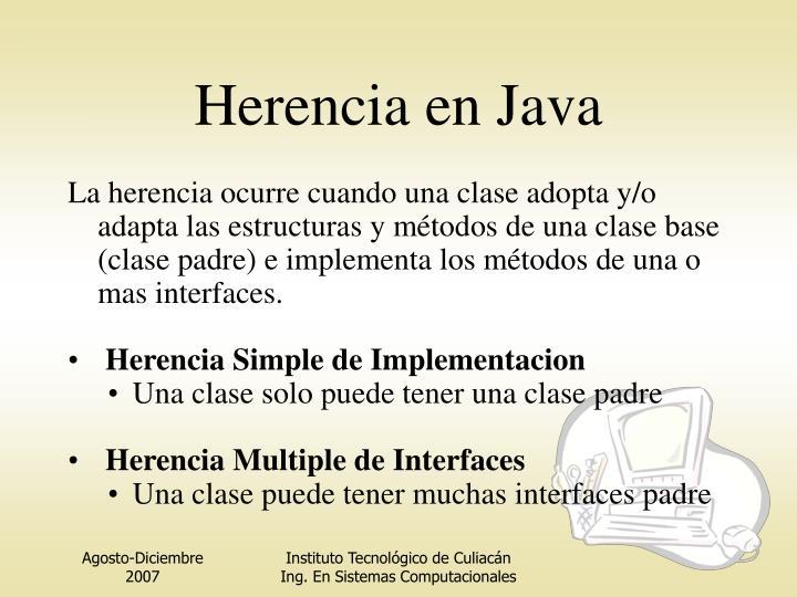 Herencia en Java