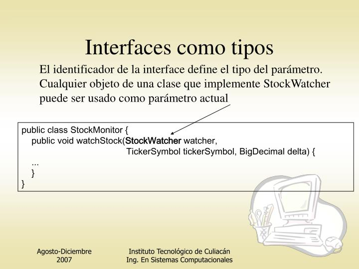 Interfaces como tipos