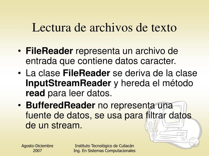 Lectura de archivos de texto