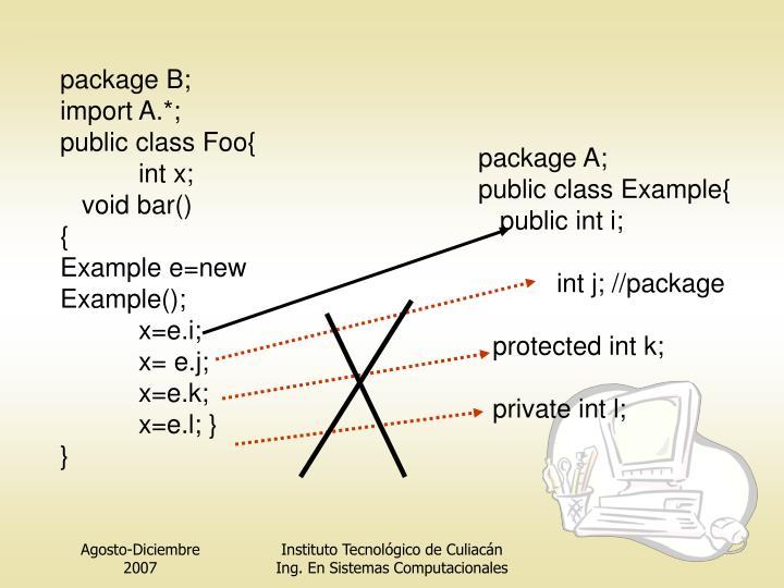 package B;