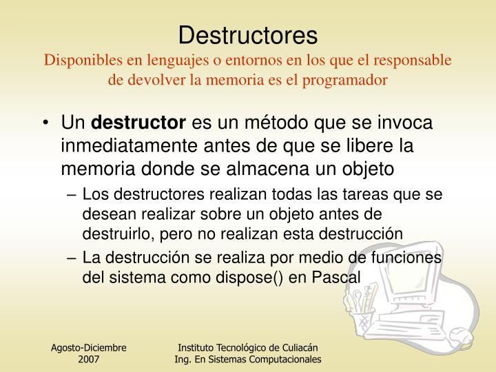Destructores