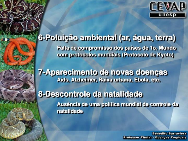 6-Poluição ambiental (ar, água, terra)