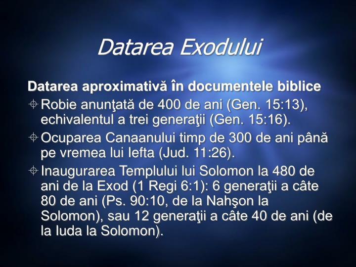 Datarea Exodului