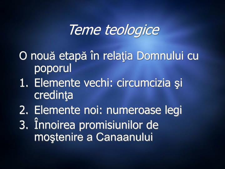 Teme teologice
