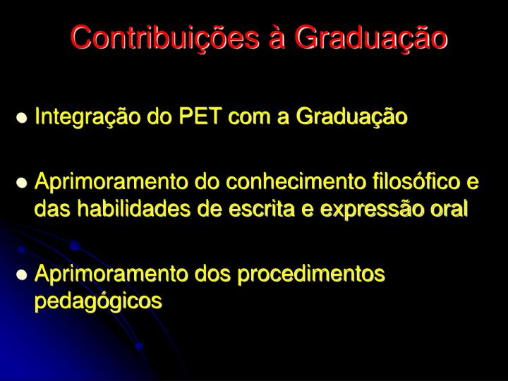 Contribuições à Graduação