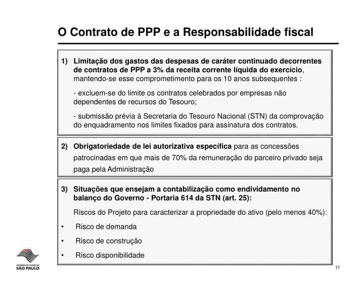 O Contrato de PPP e a Responsabilidade fiscal