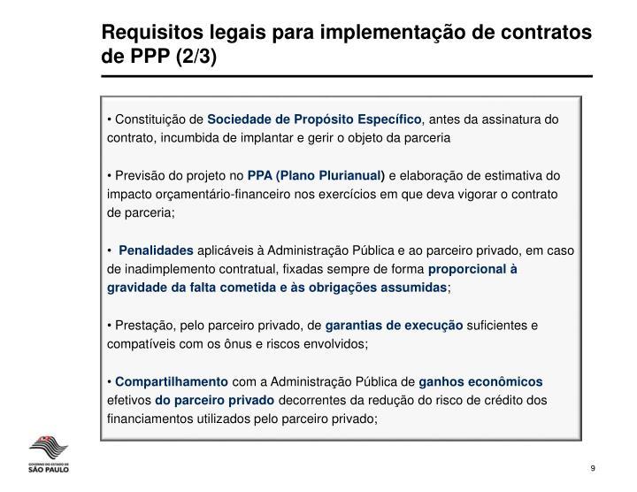 Requisitos legais para implementação de contratos de PPP (2/3)