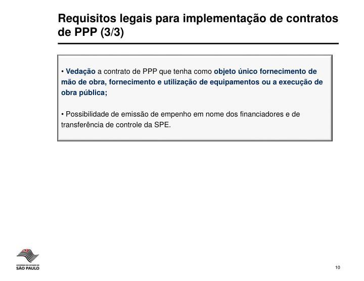 Requisitos legais para implementação de contratos de PPP (3/3)