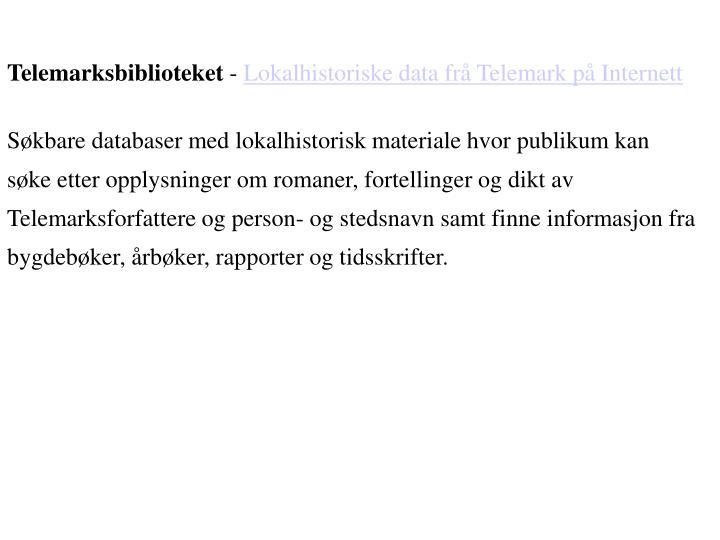 Telemarksbiblioteket